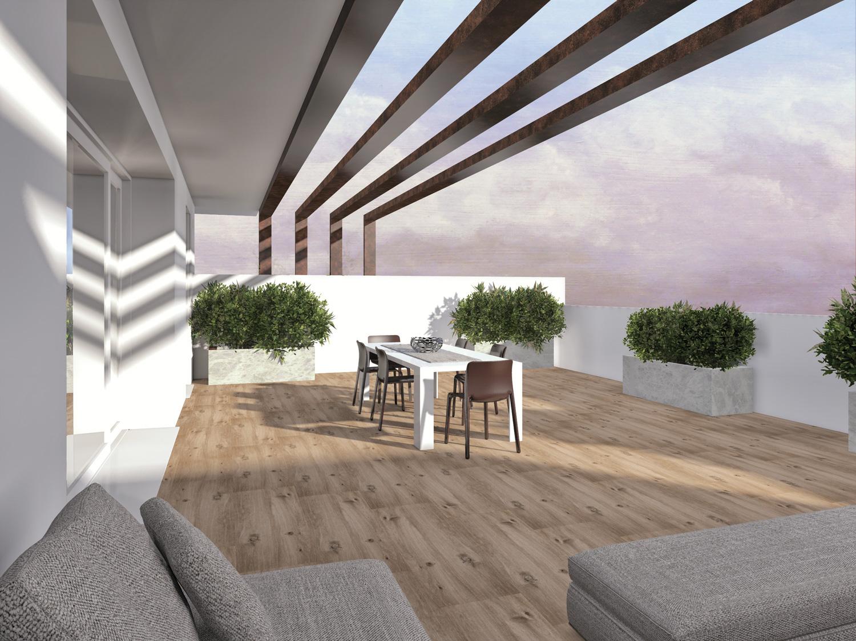 Appartamento 04 attico fincos for 3 camere da letto 2 bagni piani piano aperto